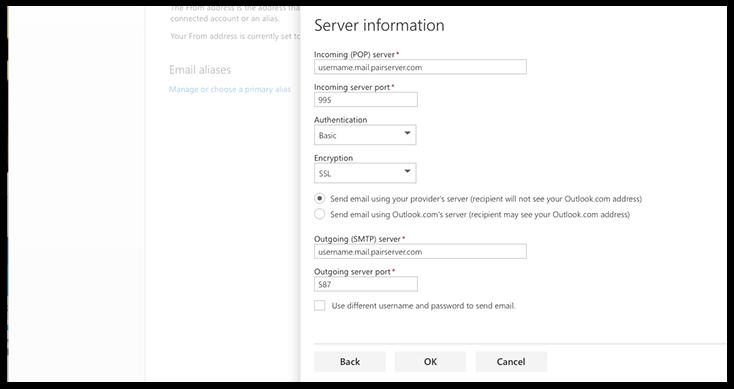 Server information image