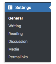 Settings to General image