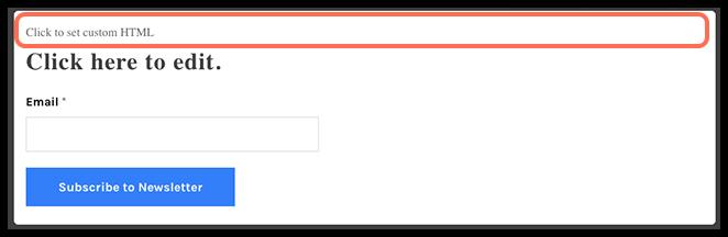 Click to Set Custom HTML image