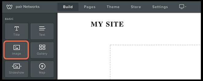 image option in sidebar image