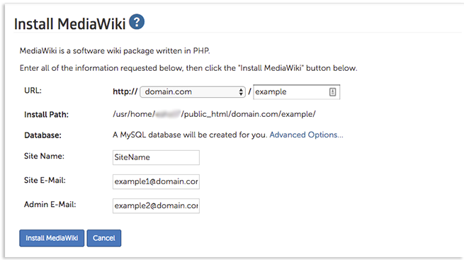 MediaWiki install page image