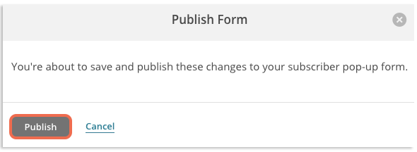 Publish Form image