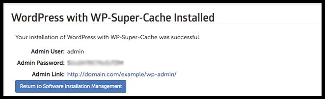 WordPress has been installed image