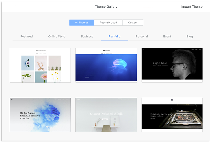 theme gallery overview