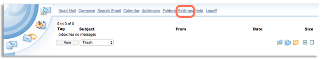 @mail Settings button image