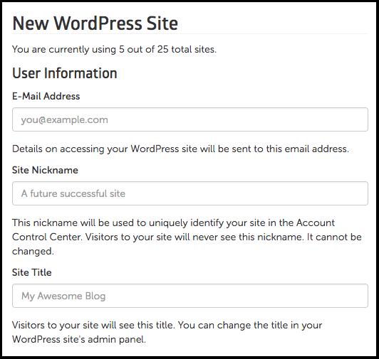new wordpress site image