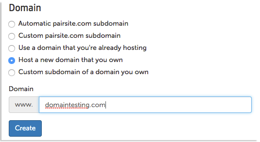 host a new domain name image
