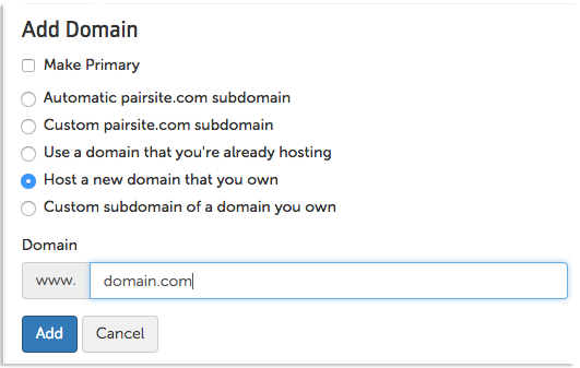 add domain image