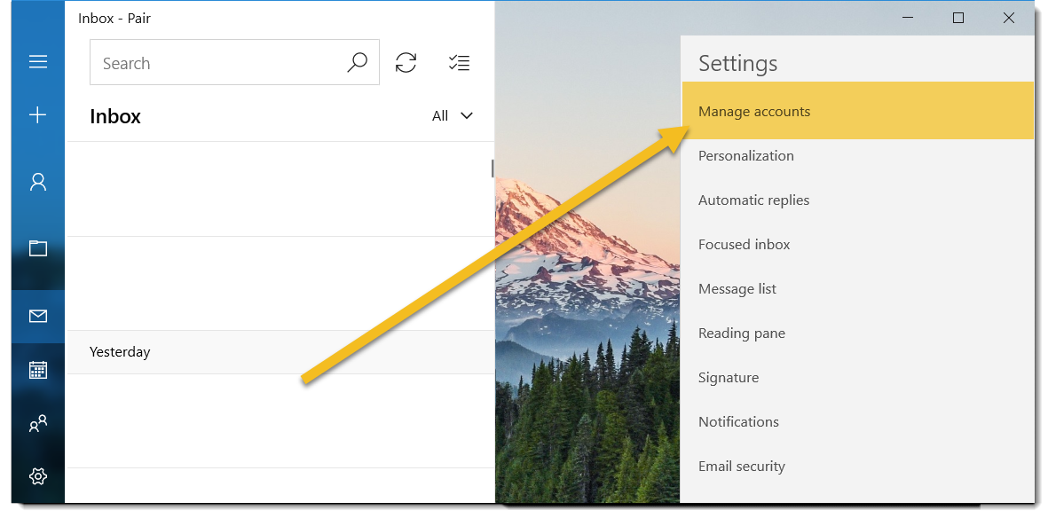 manage accounts image