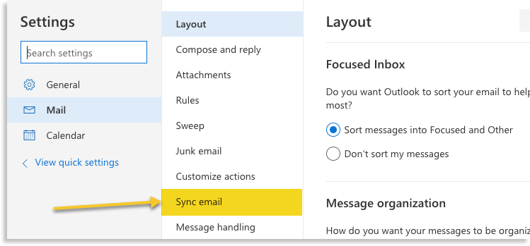 sync email image