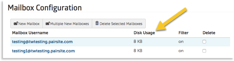 disk space column image