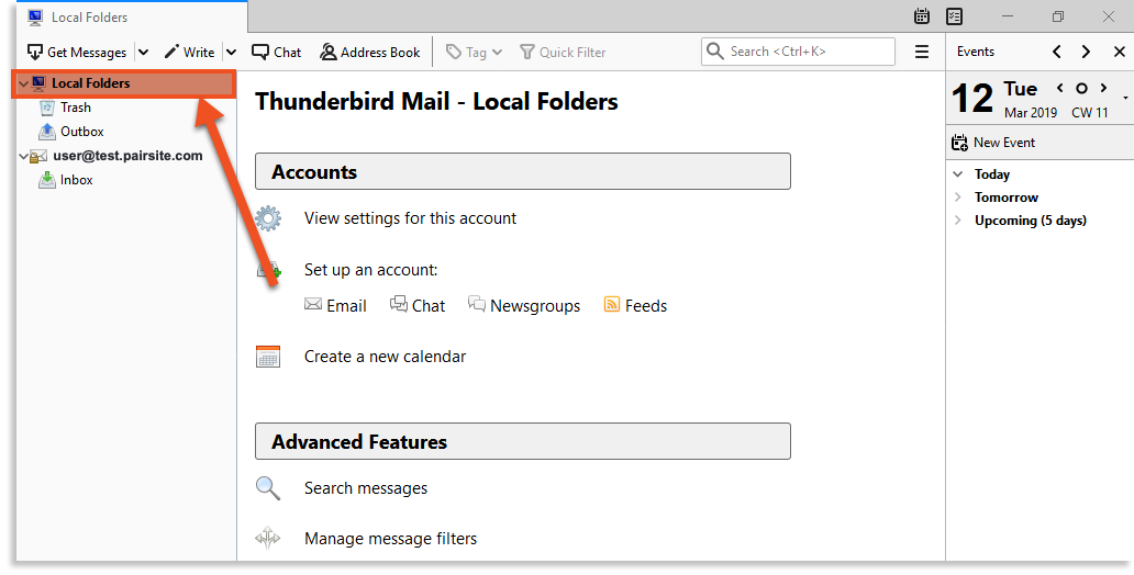 local folders image