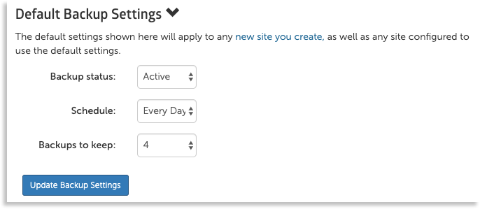 default backup settings image