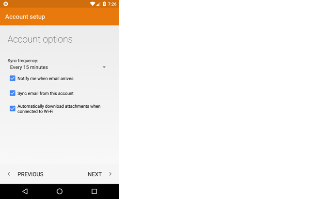 Setting Up Email: Android Email | pair Knowledge Base