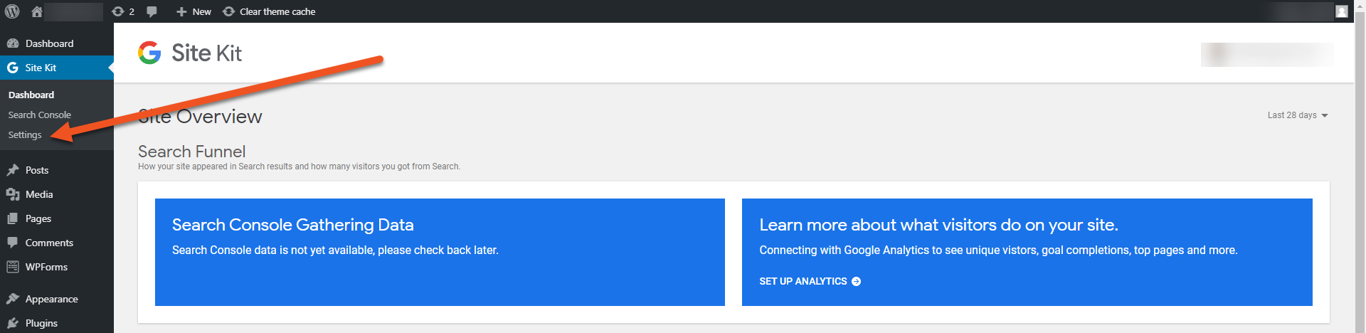 settings tab image