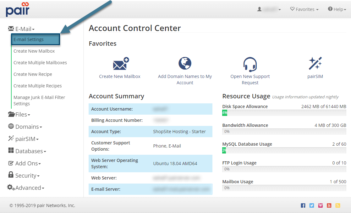 email settings image