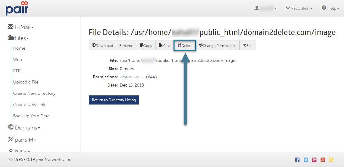 file delete button image