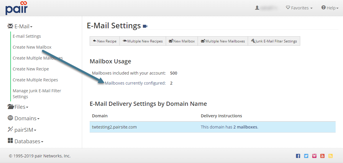 individual email settings