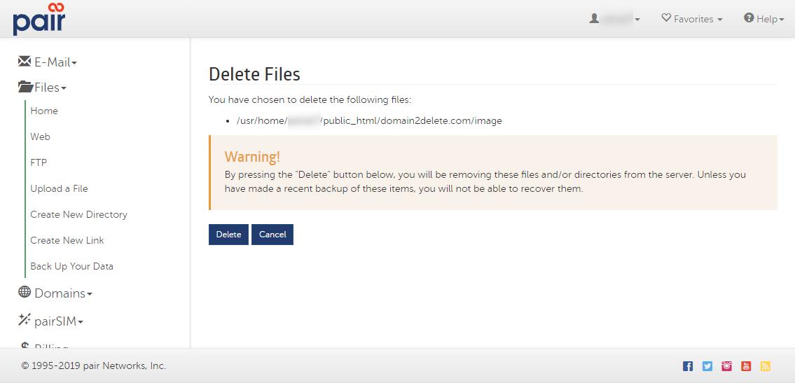 confirm file delete image