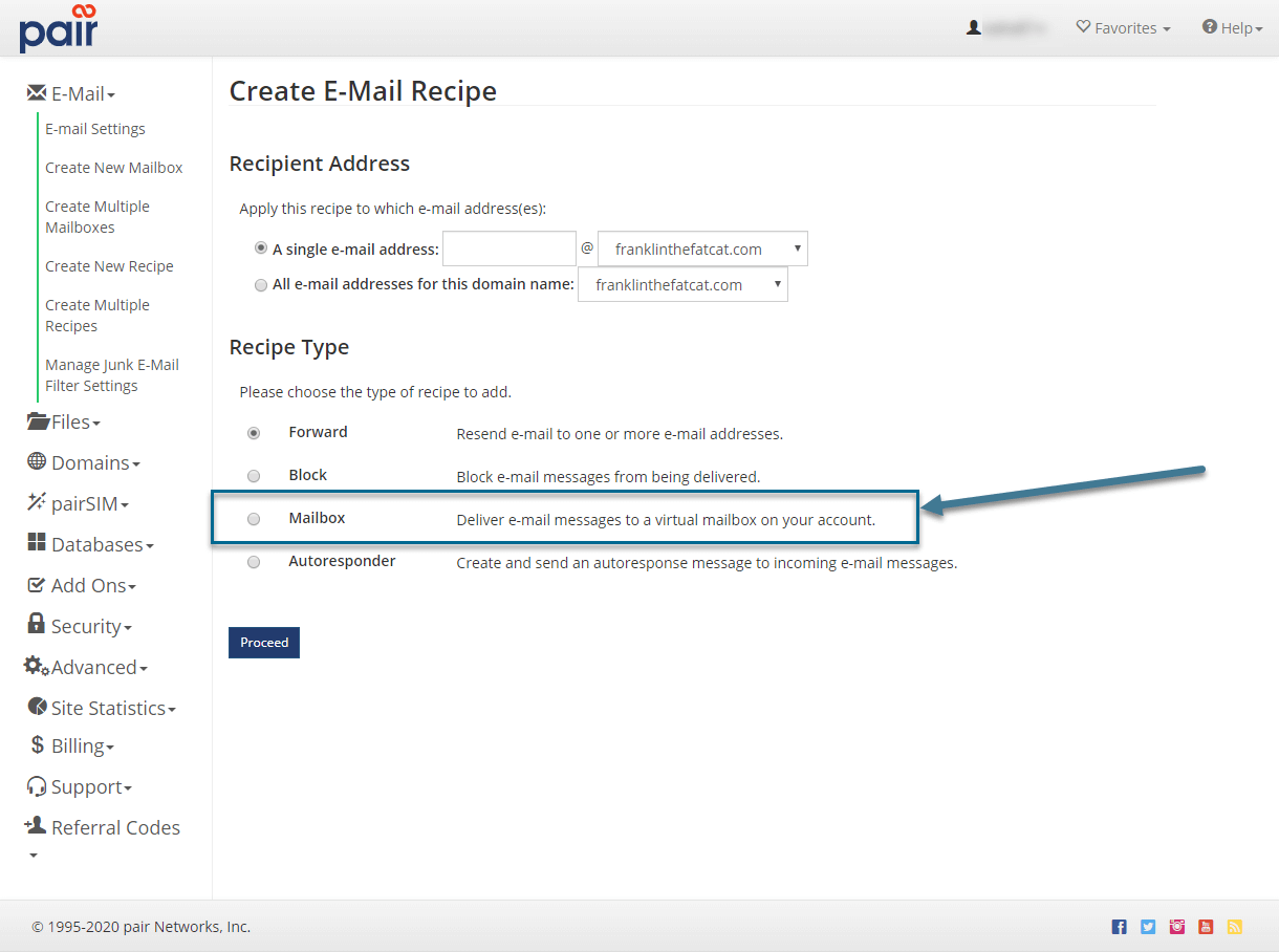 mailbox recipe image