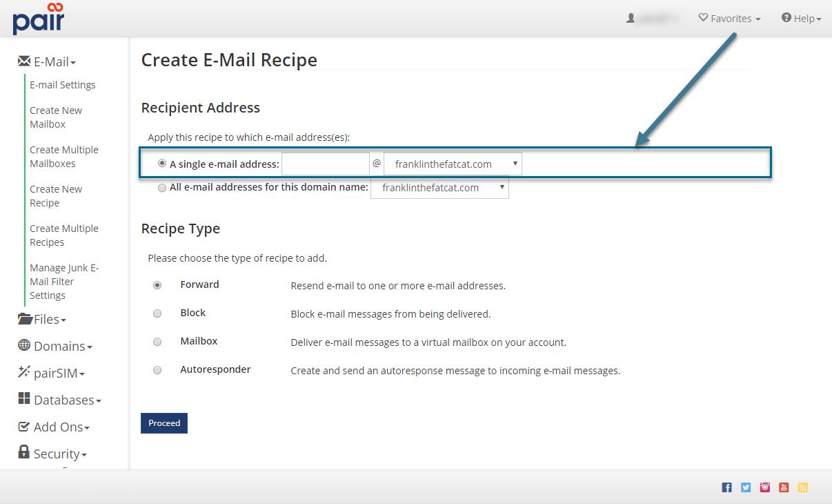 single email option image