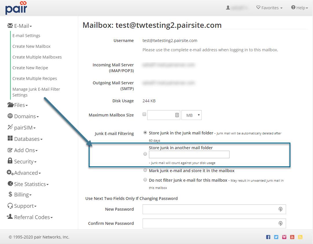 junk mail option image