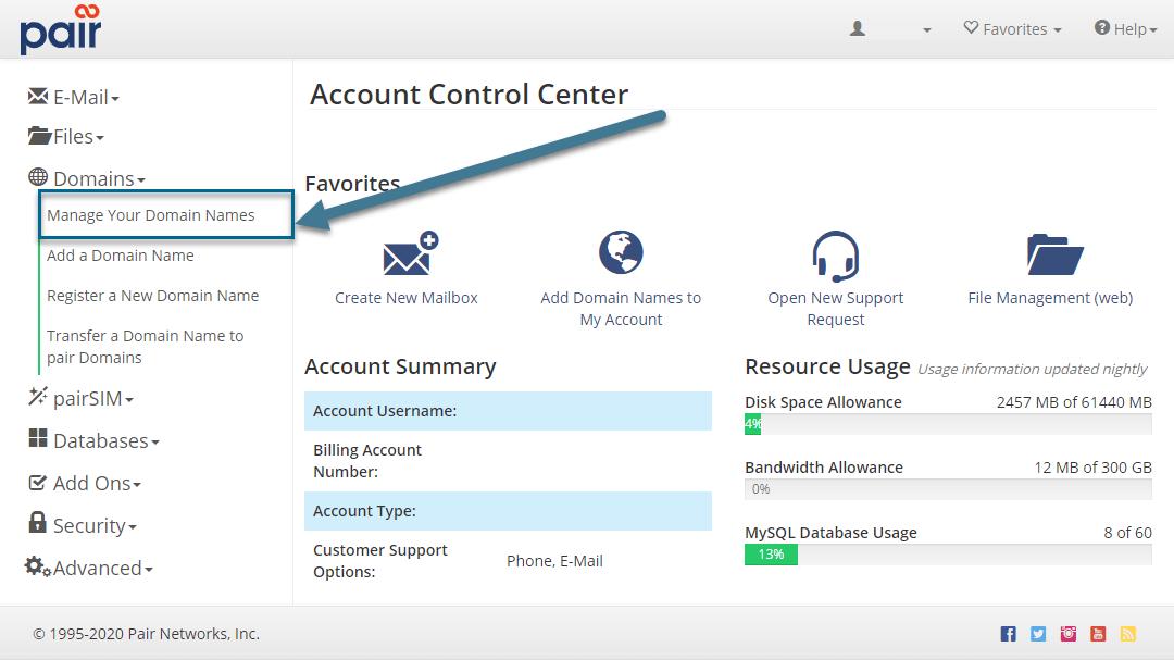 manage domains image