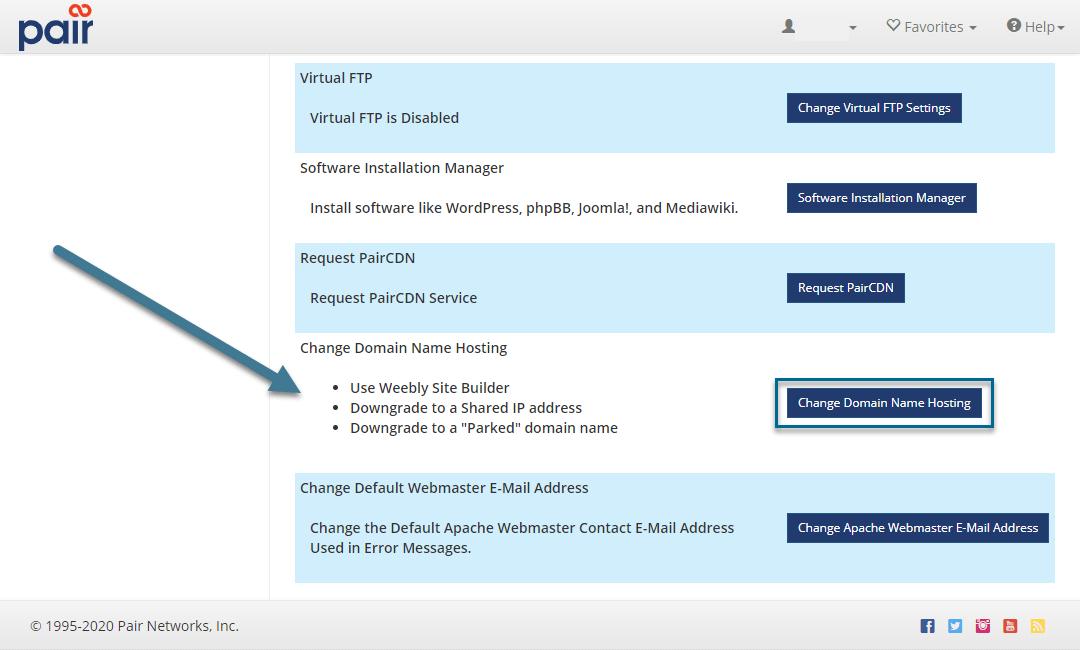 modify domain hosting image